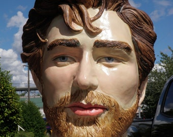 Custom Bust Portrait Sculpture Head, Made to Order Ceramic Figure Art Face