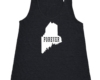 Maine Forever Tank Top. Women's Tri Blend Racerback Tank Top SEEMBO
