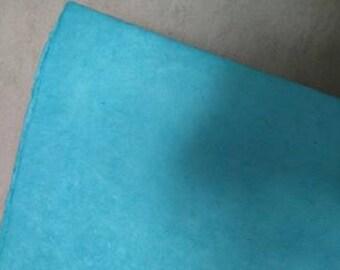 sheet of Nepalese paper 50 / 70cm light blue