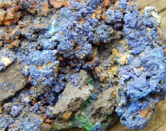 Genuine Rough AZURITE with MALACHITE Specimen Stone - Raw Azurite - Healing Crystals - Metaphysical Crystals - Reiki - Chakra Stones