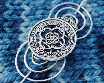 Celtic Knot Shawl Pin in Silver