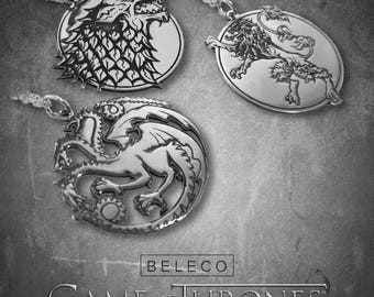 Game of Thrones Necklace, Game of Thrones Jewelry, Game of Thrones Pendant, Daenerys Targaryen Pendant, 925 Sterling Silver, GOT Jewellery