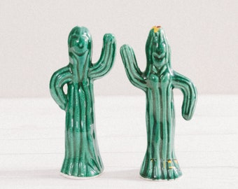Vintage Saguaro Cactus Salt and Pepper Shakers