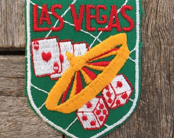 Las Vegas, Nevada Vintage Souvenir Travel Patch from Voyager