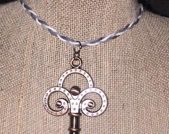 Key charm necklace