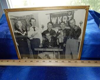 60's Photo Country Group Live On Radio Station WKRT Cincinnati Ohio Vintage 8X10 Glossy