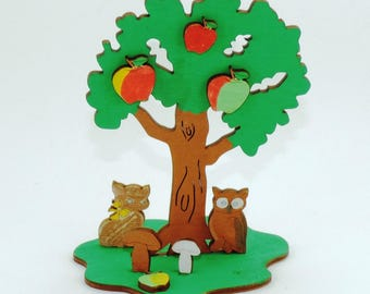 Tinker set apple tree, to paint and paste of wood