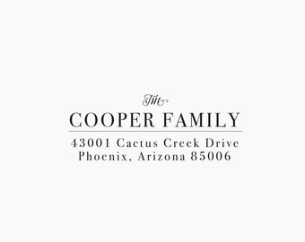 Return Address Stamp; Self Inking Stamp,  Wood Address Stamp, Custom Address Stamp, Wood Handle Stamp, Calligraphy Stamp
