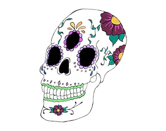 Sugar Skull, 8x10, Print