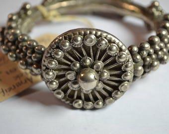 Antique Ethiopian Silver bracelet - on Maria Theresa Thaler - Mekele - Ethiopia - heavy and amazing bracelet - 270 g
