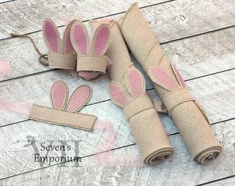 Bunny Napkin Ring Machine Embroidery Design