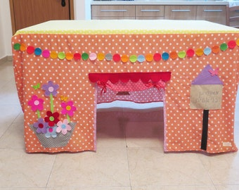 Play tent , kids tent , table playhouse , indoor playhouse