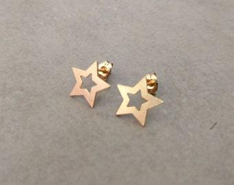 Star Stud Earrings, Gold Stud Earrings, Gold Earrings, Star Studs, Stud Earrings, Gold Post Earrings, Ear Studs, Star earrings, gold studs