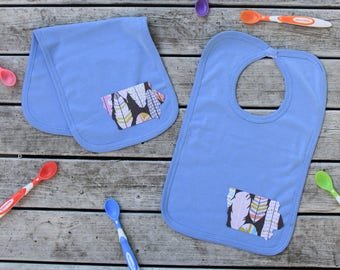 Iowa Baby Bib Burp Cloth Combo - Baby Shower Gift - ANY State Available Upon Request