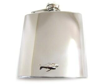 Shark 6 oz. Stainless Steel Flask