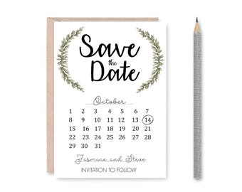 Custom Printable Save the Date Calendar | Wedding Announcement | Save The Date Invitation  | Wedding Announcement