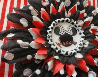 Personalized Minnie Mouse Flower Clip