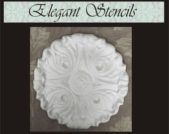 Plaster Mold Ornate Round Mold, Craft Mold, Decorative Mold, Concrete Mold