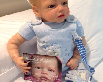 "Reborn Baby Boy KYLIE, Sculpted By Romie Strydom, Handsome Treasure, 23""6lbs, 3/4 Arms and Legs,"