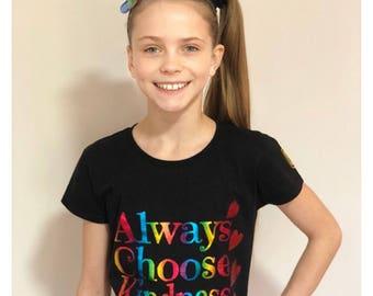 Always Choose Kindness - Charity fundraiser t-shirt #helpameliamartin