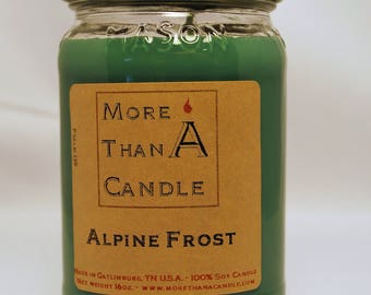 16 oz Alpine Frost Soy Candle