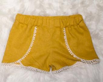 Girl Coachella Shorts - Custom Coachella shorts - You choose the fabric - Design your own shorts