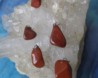 Red Jasper Pendant, Jasper Pendant, Red Jasper Tumbled Stone Pendant, Jasper Crystal Pendant, Jasper Stone Pendant, Jasper, Jasper Red