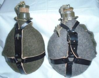 Original Czech Army water canteen bottle with Cork Closure lid