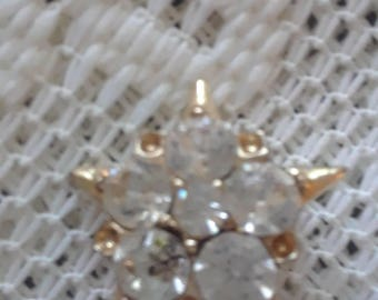 Rhinestone Star Pin