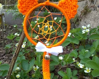 Orange Kitty Dream Catcher