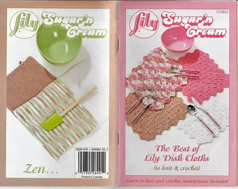 The Best of Lily Dish Cloths to Knit & Crochet Pattern Book Lily 570820