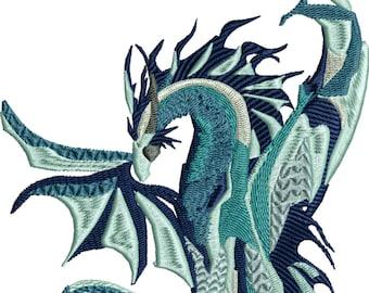 Dragon machine embroidery design 5x7 hoop