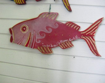 Pink Wood FISH  sIGN -WE gOT hOOKED iN rINCON pUERTO rICO- bEACH DECOR-Coastal Decor- Custom Made