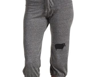 Black Sheep Pants, Yoga Pants Capri pants, Women's Workout Pants, Gift for Her