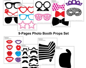 DIY Printable Photo Booth Props Set (34 pcs) - DIY Party Printable - Wedding Party Printable