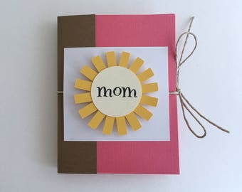 Gift Card Holder Mom, Mom Birthday Gift, Mother's Day Card, Birthday Gift For Mom, Mom Coupons, Pocket Book, Mother's Day Gift