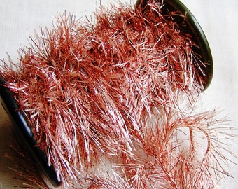 Copper and Malt Jewel Tinsel Sparkly cording trim- craft trim, glitter twine, wedding craft embellishment, doll miniature making-5 yds