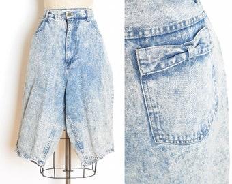 vintage 80s shorts, acid wash shorts, high waisted shorts, 80s jean shorts, acid wash denim, bows shorts, 80s clothing, plus size, XL XXL