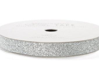 "Glitter Tape Silver - 3/8"" x 3 yds - 100% Archival"