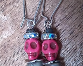 Quirky earrings, Gothic style