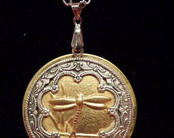 Vintage Dragonfly Necklace