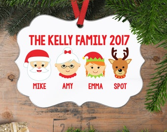 Personalized Family Christmas Ornament - Family Christmas Gift -Custom Family Faces Heads Christmas Ornament