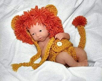 Newborn crochet outfit Newborn Lion Outfit Newborn photo prop baby boy outfit lion hat lion outfit crochet newborn photo outfit newborn boy