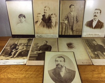 Photo Cabinet Cards 9pc