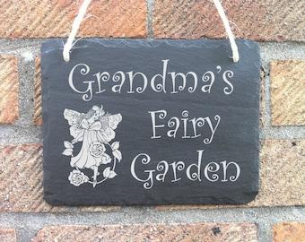 Personalised Slate Hanging Garden Sign