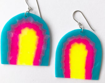 Mildred Midi Dangles, Statement Earrings, Light, Fun, Colourful