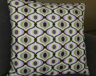 1 Size Available - Feeling Groovy Pillow Cover 18 inches x 18 inches