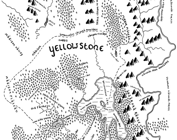Yellowstone National Park - Giclée Print