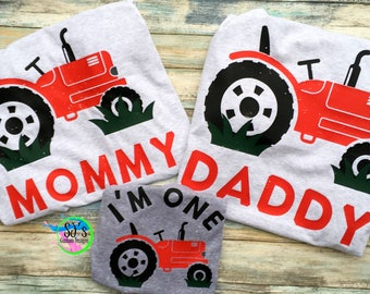 Farming birthday, Farm themed first birthday, First birthday, Tractor birthday, Red tractor shirt, red tractor birthday, first birthday