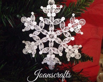 "Quilling, 2012 Ornament ""Snow on the bough"" Snowflake"
